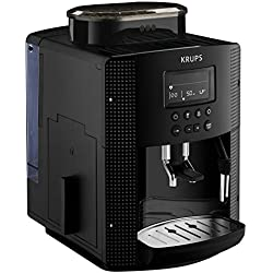 Krups Essential EA81P070 - Cafetera Superautomática, 15 Bares, Molinillo Café Metal, Selección de Cantidad e Intensidad de Café, Boquilla Vapor, Pantalla LCD, Memoria 2 Recetas, Rápido Calentamiento