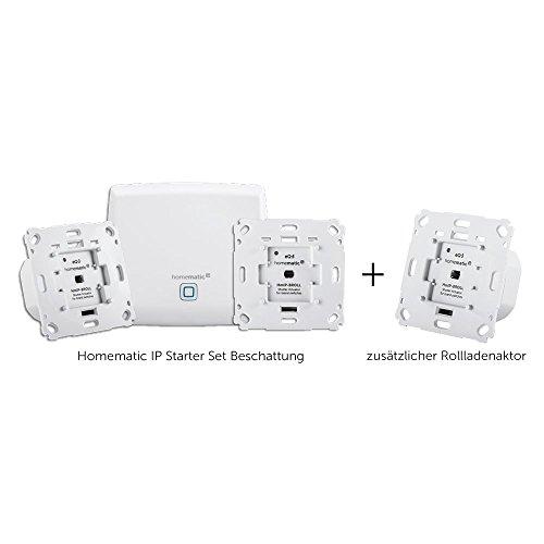 Homematic IP Smart Home Starter Set Beschattung + zusätzlicher Rollladenaktor