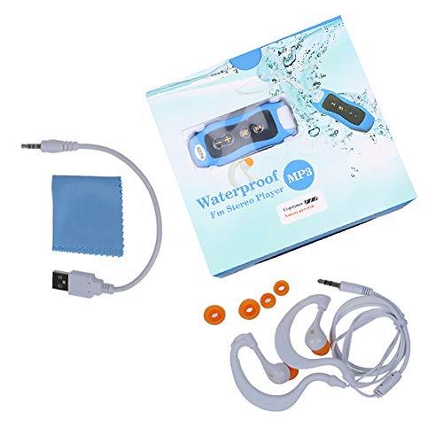 NANAD Wasserdichter MP3-Player zum Schwimmen IPX8 8 8 GB Clip MP3 Musik-Player für Schwimm-Headset, Sport-Headset, Unterwasser-Musik-Player, Wie abgebildet, 8 GB