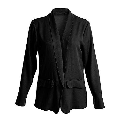 ESAILQ Bekleidung - Chaqueta de Traje - para Mujer Negro XXXXXL