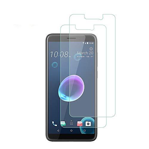 QULLOO HTC Desire 12+/HTC Desire 12 Plus Panzerglas Schutzfolie Film, 9H Tempered Glass Hartglas HD Displayschutzfolie Panzerglasfolie Handy Schutzglas Glasfolie für HTC Desire 12+/HTC Desire 12 Plus