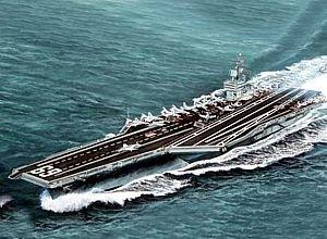 Modellino nave da guerra uss dwight d. eisenhower cvn-69 1978 scala 1: 700