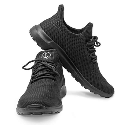 VIENTO Boost Damen Sneakers (Schwarz, 41)