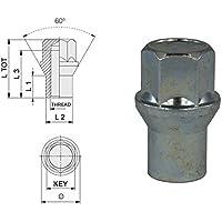 Dado ruota cieco con collare M12x1.5, Chiave 19, Lunghezza 38.5