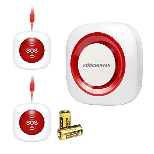 GSM Smart Inalámbrica Localizador de Cuidador Llamada de SOS Botón Paciente Ayudar a Sistema de Alerta de Llamada de Enfermera Pager para Asistente Personal hogar, Personas Mayores y Discapacidad