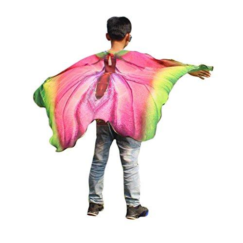 Disfraz Para Mujer/Niños, ❤️Xinantime Chal de estampado de mariposa infantil Accesorio de vestuario de Bohemia Pashmina para niños 9 colores, 147 x 100 CM (❤️Multicolor)