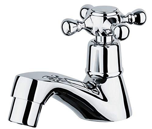 Retro Nostalgie Kaltwasser Armatur Wasserhahn Kreuzgriff 1/2' Zoll Chrom Sanlingo