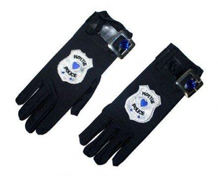 Police Girl Handschuhe zum Polizistin Kostüm