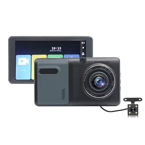 XIAOPING Autofahrrekorder, 5-Zoll-Touchscreen, Doppelobjektiv Vorn Und Hinten, 1080P-Ultra-High-Definition-Kamera, Nachtmodus, Schleifenaufnahme Und Bewegungserkennung (Color : A) -