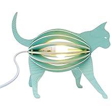 Gato lámpara de madera para niños zooo DIY
