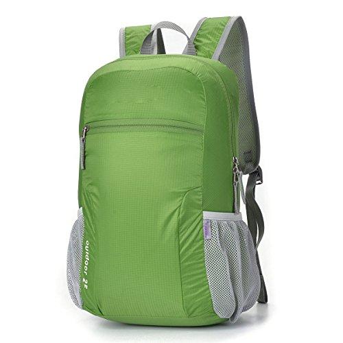 Zaino Da Viaggio Leggero Pieghevole Daypack Per Il Campeggio Escursioni In Bicicletta Sport All'aperto,Red Green