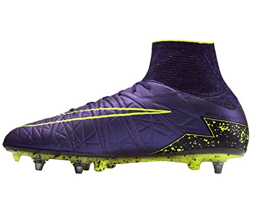 Nike Herren Hypervenom Phantom II SG-PRO Fußballschuhe, Lila/Gelb/Schwarz (Hyper Hypr Grape-Blk-VLT), 42 EU (Lila Und Gelb Nike Schuhe)