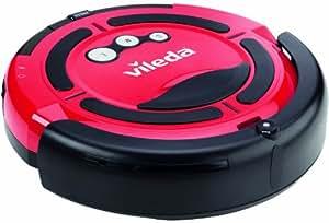 Vileda 143004 Cleaning Robotic Vacuum Cleaner, 25 Watt, Red