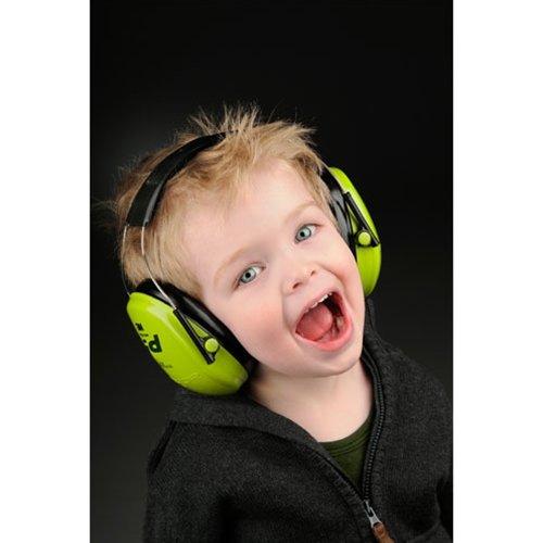 3M Peltor Kid Kapselgehörschützer neongrün / Kinder Gehörschutz mit verstellbarem Kopfbügel für Lärm bis 98dB / SNR 27 Hörschutz mit hohem Tragekomfort & geringem Gewicht - 2