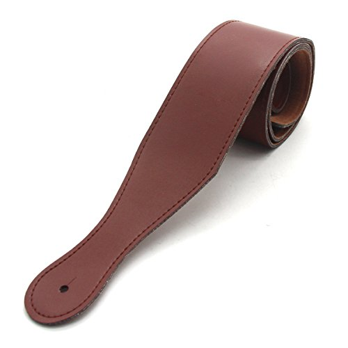 Price comparison product image latinaric Adjustable Leather Guitar Strap for Acoustic Electric Folk Guitar,  brown