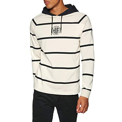 HUF Transit Long Sleeve Knit Top Long Sleeve T-Shirt Large Birch