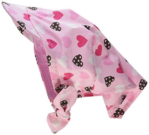 Sterntaler Kopftuch für Mädchen mit Schirm, Knoten und Süßem Herzchenmotiv, Alter: ab 18-24 Monate, Größe: 51, Rosa (Rosa 702)
