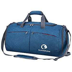 CANWAY Faltbare Sporttasche Faltbare Reisetasche mit dem schmutzigen Fach und Schuhfach Leichtgewicht 45L für Männer und…