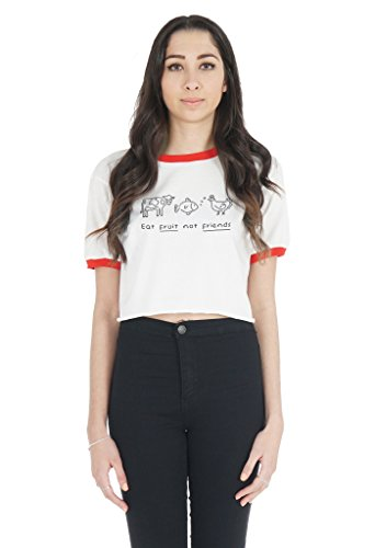 Sanfran Clothing Damen T-Shirt White (with Red Trim)