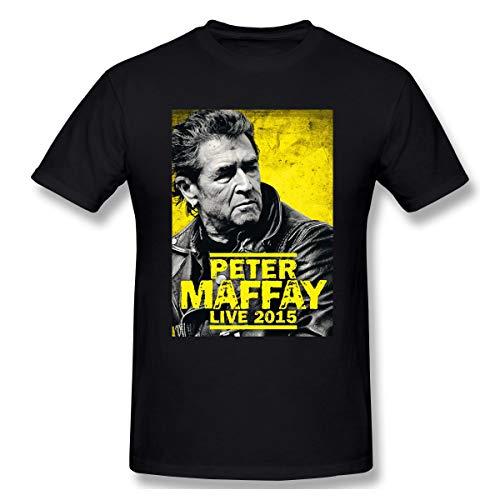 Edwardjack Herren Peter Maffay 2015 Cool Black T-Shirt XL Mit Herren-Kurzarm