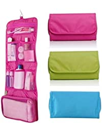 Portable Folding Travel Storage Bag, Wall Mountable Hanging Cosmetic Bag Makeup Organizer Undergarment Pouch,...