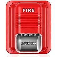 Jannyshop Sound and Light Alert Alarma contra Incendios Sistema contra Incendios Acústico Sensor de Sistema de Seguridad para la Oficina en casa Hotel Restaurante