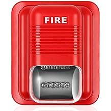 Jannyshop Sound and Light Alert Alarma contra Incendios Sistema contra Incendios Acústico Sensor de Sistema de