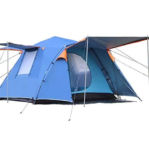 Cvbndfe 210T Silber Beschichtete Tuch Außen 3-4 Personen Automatische Zelt Camping Wandern Wasserdichtes Double Layer Canopy Sonnenschutz Familienzelt mit Aufbewahrungstasche