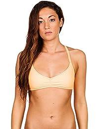784134b07c7575 Volcom Damen Bikini Oberteil Simply Solid V Neck Bikini Top Oberteil Damen  Türkis