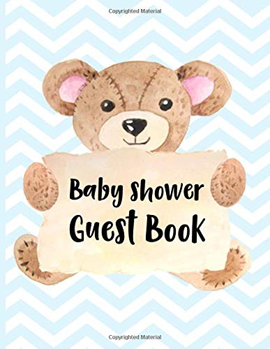 Baby Shower Guest Book: Keepsake For Parents - Guests Sign In And Write Specials Messages To Baby Boy & Parents - Bonus Gift Log Included