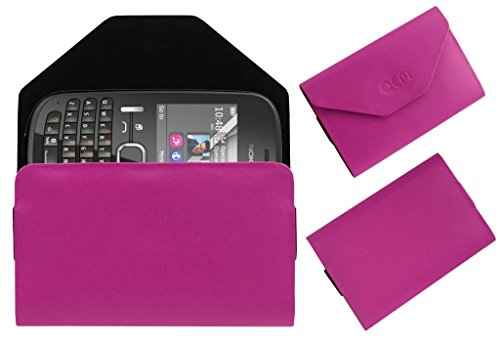 Acm Premium Pouch Case For Nokia Asha 200 Flip Flap Cover Holder Pink  available at amazon for Rs.179
