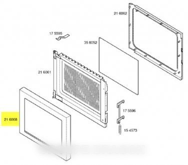 SIEMENS - cadre de porte noir pour micro ondes SIEMENS