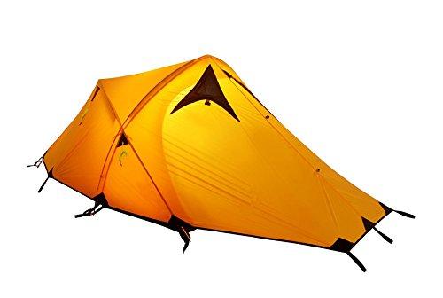 GEERTOP Alpine Campingzelt Trekkingzelt Kuppelzelt Zelt 20D Ultraleicht und Wasserdichte - 145 x 215 x 110 cm (2,59kg) - 2 Personen 3 Jahreszeiten Ideal für Camping Klettern Jagen (Gelb)