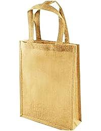 Smart Services Trendy Handheld Jute Bag, Yellow