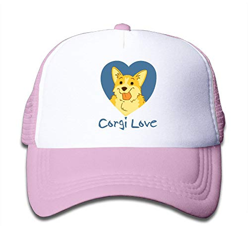 dfegyfr Kids Heart Corgi Love Trucker Mesh Baseball Kappen Hut Trucker Huts Black Fashion19 Tan Trucker Hut