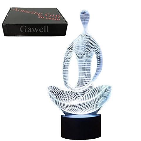 3D Meditation Illusion Lampe gawell Nacht Licht 7Farben leuchtet mit Smart Touch Schalter USB-Kabel Creative Geschenk Spielzeug Dekoration