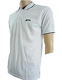 Slazenger - Polo -  - Manches courtes Homme Blanc White / Black Tipped