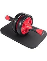 KYLIN SPORT Roue Abdominale AB Wheel Roller Pro de Fitness et Musculation de Corp-Appareil Abdominal Munit d'Un Tapis Epais pour Genoux