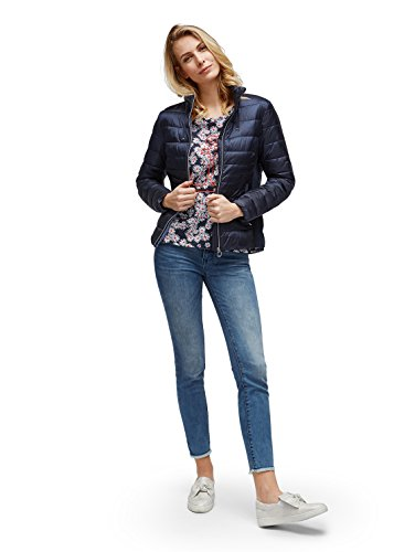 TOM TAILOR Damen Print Sweatshirt real navy blue