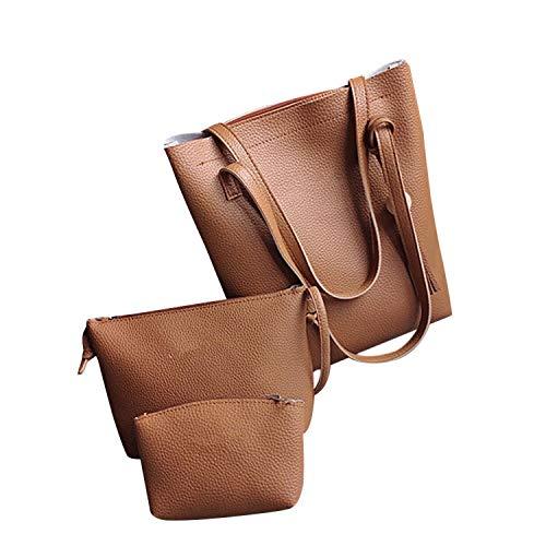 XIAOZHOU Damen Handtasche/Schultertasche aus Leder, mit Quasten, große Kapazität, für Mutter/Tochter, Bw - Größe: Einheitsgröße -