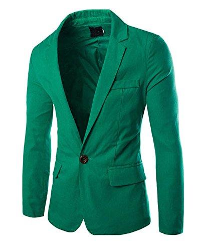 Herren Sakko Blazer Freizeit Business Jacke Anzugsjacke Herren Slim fit Blazer Sakko Jacket Jacke Anzugsjacke Grün X-L
