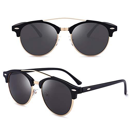 Polarisierte Sonnenbrillen Herrenbrillen Für Europäische Und Amerikanische Mode Retro Round Frame Driving Sonnenbrillen (2er-Pack)