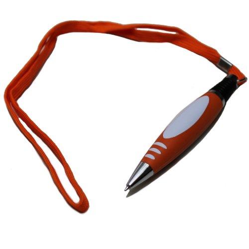 Kugelschreiber Lanyard Band Kuli zum umhängen Stift Schlüsselanhänger orange