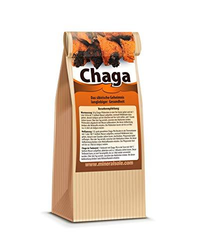 CHAGA Tee | 20 Teebeutel I Pilz aus Sibirien natürlich wild gesammelt I nur Beste Qualität vom Fachhandel I Schonend getrocknet I GMP-Zertifiziert I Roh & Vegan I In Deutschland Laborgeprüft