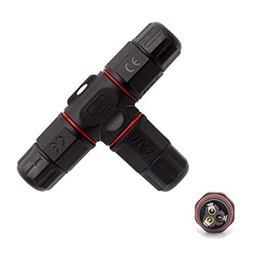 3 Polig Wasserdicht Kabelverbinder IP67 Dosenmuffe T-Form Erdkabel Kabelmuffe WX