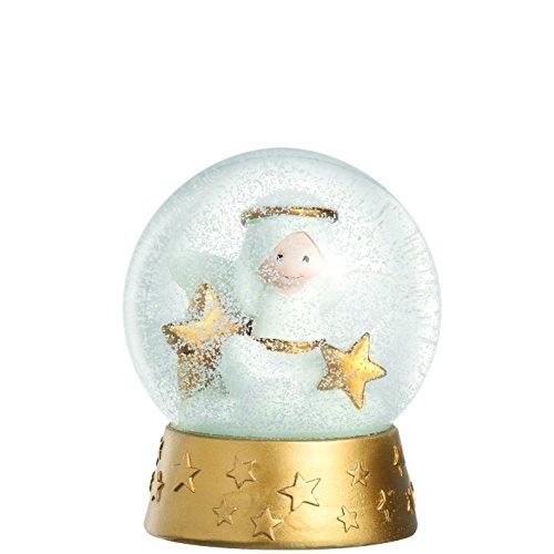 Leonardo 029878 Schneekugel mit Engelfigur - AURORA - Glas - Höhe: 12 cm