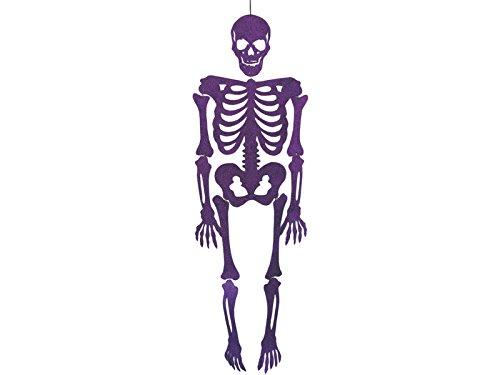 Skelett Purpur Eva mit Glitzer 155 cm.