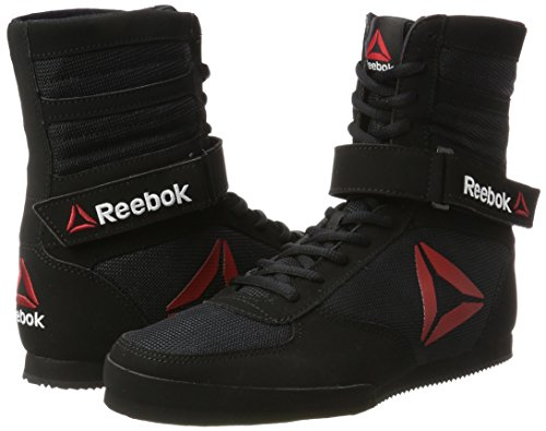 Reebok Men's Boot-Buck Boxing Shoes, Black (Black/Black/White), 9 UK