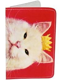 Porte-cartes Chaton Royal de rose pour Cartes de Visite et Cartes Bancaires