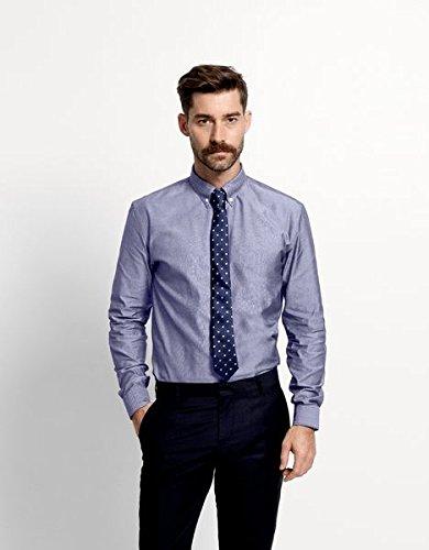 SELECTED HOMME Herren Slim Fit Business Hemd One Oak. Shirt Ls Noos Id Blau (Dark Blue)